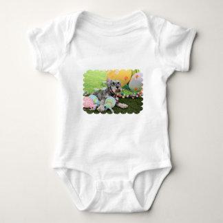 Easter - Schnauzer - Fergie Baby Bodysuit
