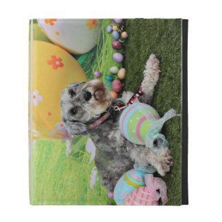 Easter - Schnauzer - Fergie iPad Folio Cases