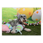 Easter - Schnauzer - Fergie Greeting Card