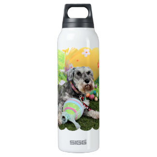 Easter - Schnauzer - Fergie 16 Oz Insulated SIGG Thermos Water Bottle