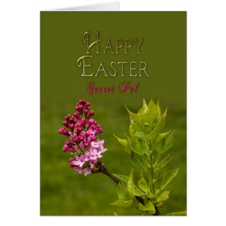 EASTER - SECRET PAL - LILACS GREETING CARD