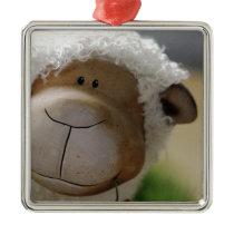 Easter Sheep Metal Ornament