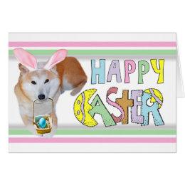 Easter Shiba Inu Card