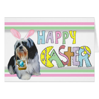 Easter Shih Tzu Card