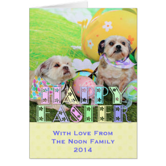 Easter - Shih Tzu - Clementine and Winston Greeting Card