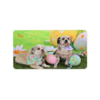 Easter - Shih Tzu - Clementine and Winston Label