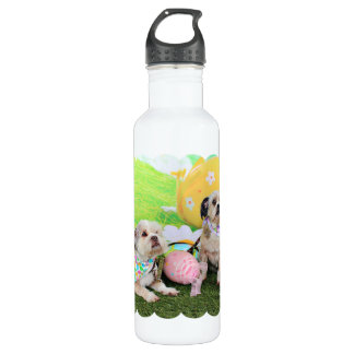 Easter - Shih Tzu - Clementine and Winston 24oz Water Bottle
