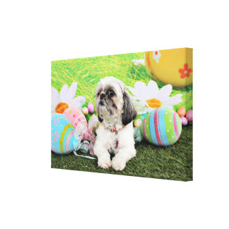 Easter - Shih Tzu - Sophie Gallery Wrapped Canvas