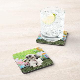 Easter - Shih Tzu - Sophie Beverage Coasters
