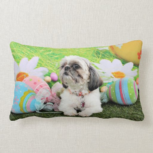Easter - Shih Tzu - Sophie Pillow