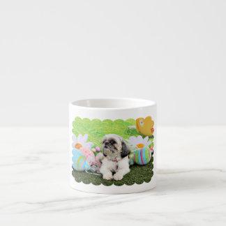 Easter - Shih Tzu - Sophie 6 Oz Ceramic Espresso Cup
