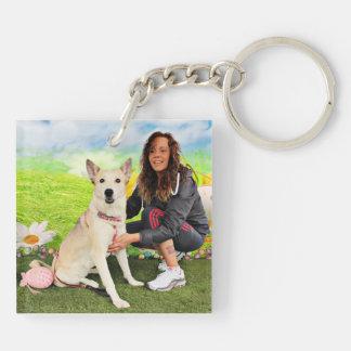 Easter - Siberian Husky - Contessa Keychain