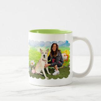 Easter - Siberian Husky - Contessa Two-Tone Coffee Mug