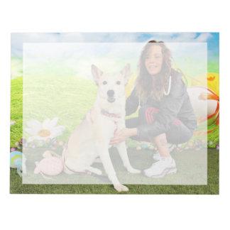 Easter - Siberian Husky - Contessa Note Pad