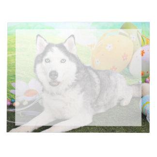 Easter - Siberian Husky - Luka Memo Notepads