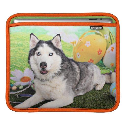 Easter - Siberian Husky - Luka Sleeve For iPads