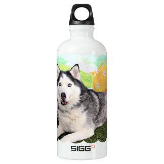 Easter - Siberian Husky - Luka Water Bottle