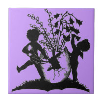 Easter sillouette tile