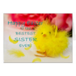 Easter SISTER chick Greeting Cards