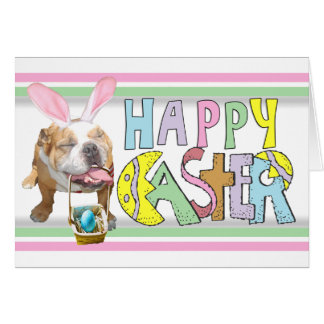 Easter Smiling Bulldog Card