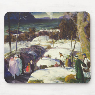 Easter Snow Mouse Pad