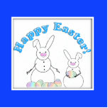 Easter Snowmen Snow Bunnies Acrylic Cut Outs
