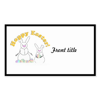 Easter Snowmen Snow Bunnies Double-Sided Standard Business Cards (Pack Of 100)