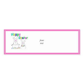 Easter Snowmen Snow Bunnies Double-Sided Mini Business Cards (Pack Of 20)