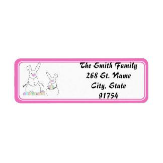 Easter Snowmen Snow Bunnies Return Address Label