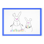 Easter Snowmen Snow Bunnies Personalized Invite