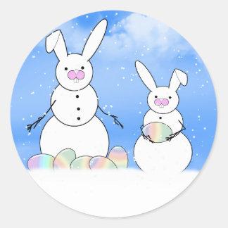 Easter Snowmen Snow Bunnies Sticker