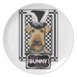Easter - Some Bunny Loves You - Airedale Party Plate