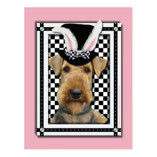 Easter - Some Bunny Loves You - Airedale Postcard