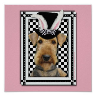 Easter - Some Bunny Loves You - Airedale Poster