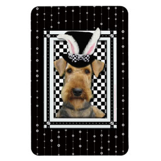 Easter - Some Bunny Loves You - Airedale Rectangular Photo Magnet