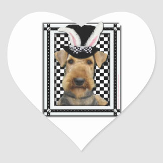 Easter - Some Bunny Loves You - Airedale Heart Stickers