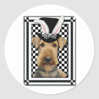 Easter - Some Bunny Loves You - Airedale Round Sticker