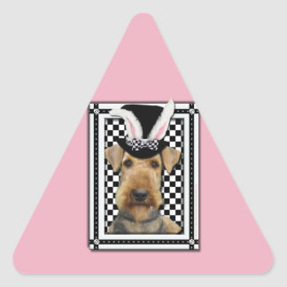 Easter - Some Bunny Loves You - Airedale Triangle Sticker