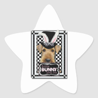 Easter - Some Bunny Loves You - Airedale Star Stickers