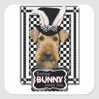 Easter - Some Bunny Loves You - Airedale Square Stickers