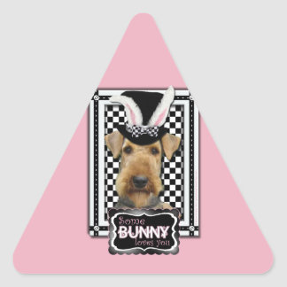 Easter - Some Bunny Loves You - Airedale Stickers