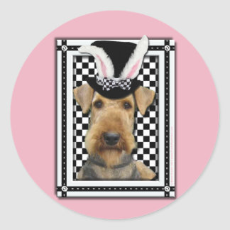 Easter - Some Bunny Loves You - Airedale Round Stickers