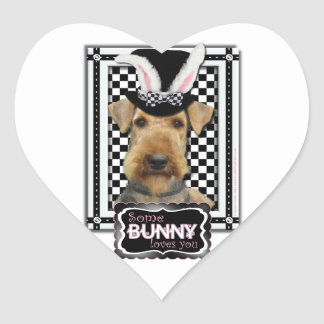 Easter - Some Bunny Loves You - Airedale Sticker