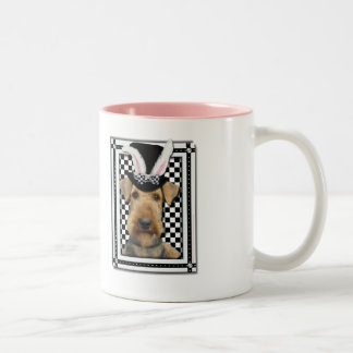 Easter - Some Bunny Loves You - Airedale Two-Tone Coffee Mug
