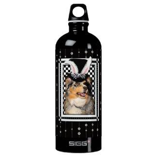 Easter - Some Bunny Loves You  Australian Shepherd Water Bottle