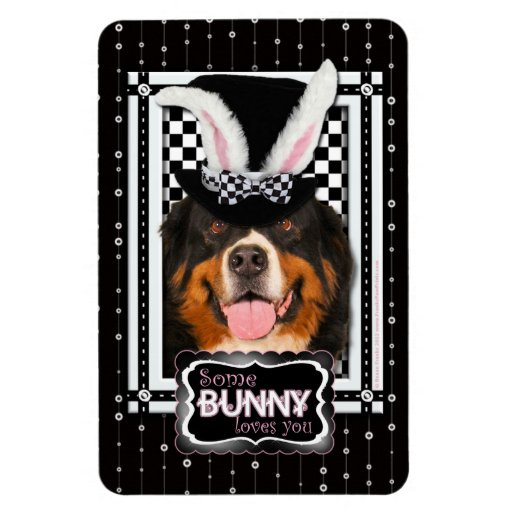 Easter - Some Bunny Loves You - Bernie Flexible Magnet