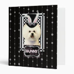Easter - Some Bunny Loves You - Bichon Frise 3 Ring Binders