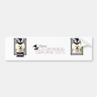 Easter - Some Bunny Loves You - Bichon Frise Bumper Sticker