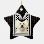 Easter - Some Bunny Loves You - Bichon Frise Ornament