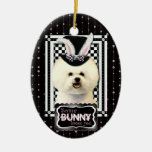 Easter - Some Bunny Loves You - Bichon Frise Ornaments